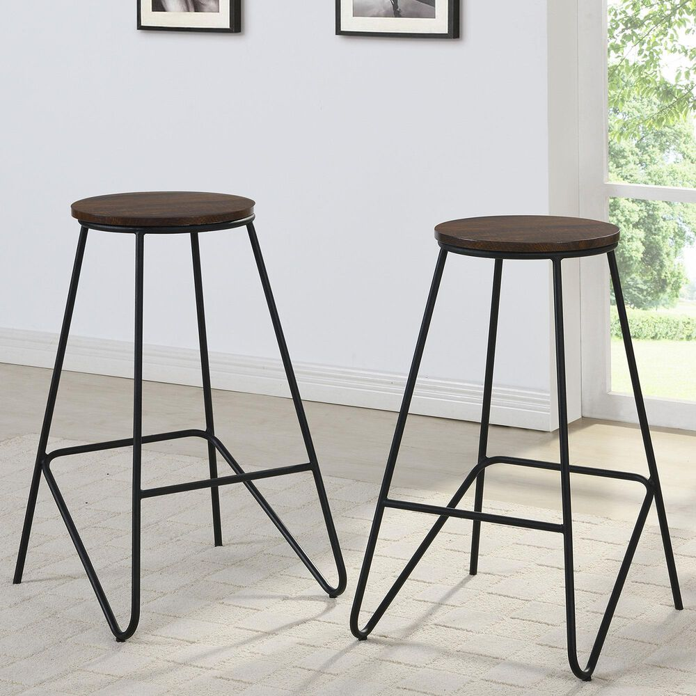 """Carolina Chair and Table Thatcher 24"""" Stool in Elm/Black (Set of 2), , large"""
