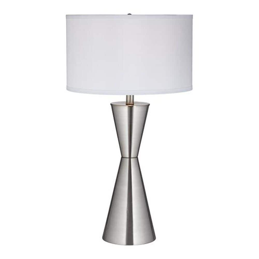 Pacific Coast Lighting Troubadour Table Lamp in Brushed Nickel/Brushed Steel, , large