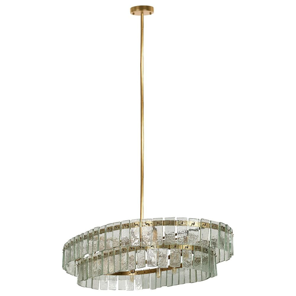 Mercana Wallace 10-Light Chandelier in Antiqued Gold, , large