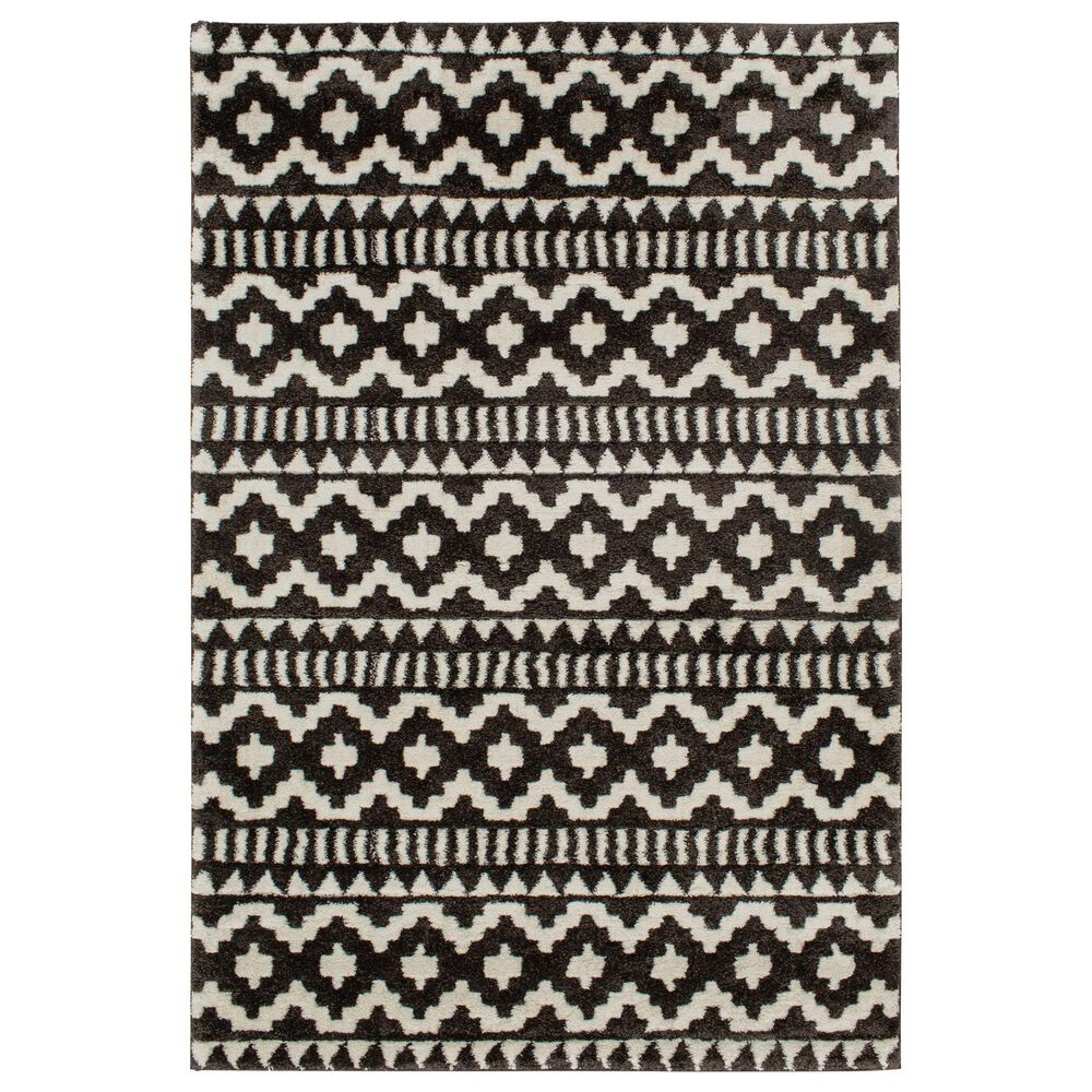 """Central Oriental Structures Torrent Weehawken 6235SF 7'6"""" x 9'6"""" Soot and Buff Area Rug, , large"""
