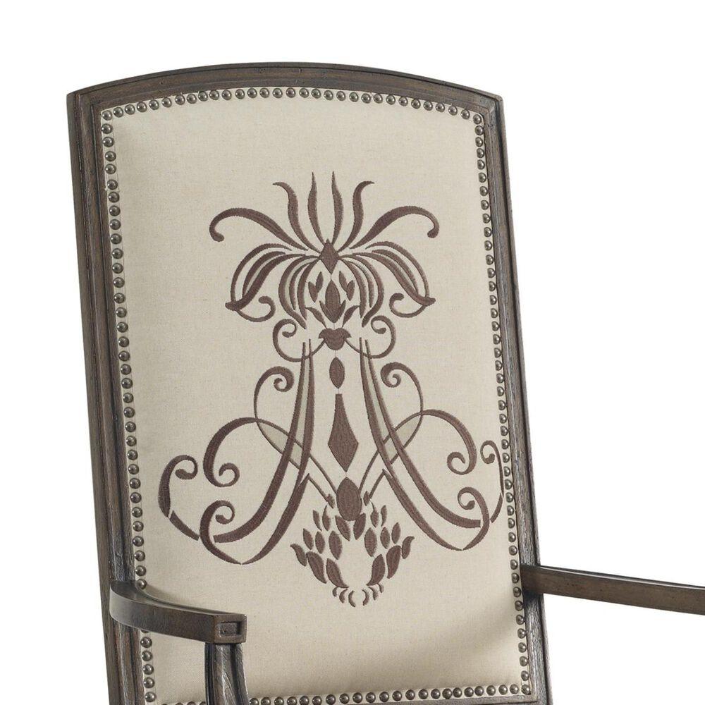Hooker Furniture Rhapsody Insignia Arm Chair in Rustic Walnut (Set of 2), , large