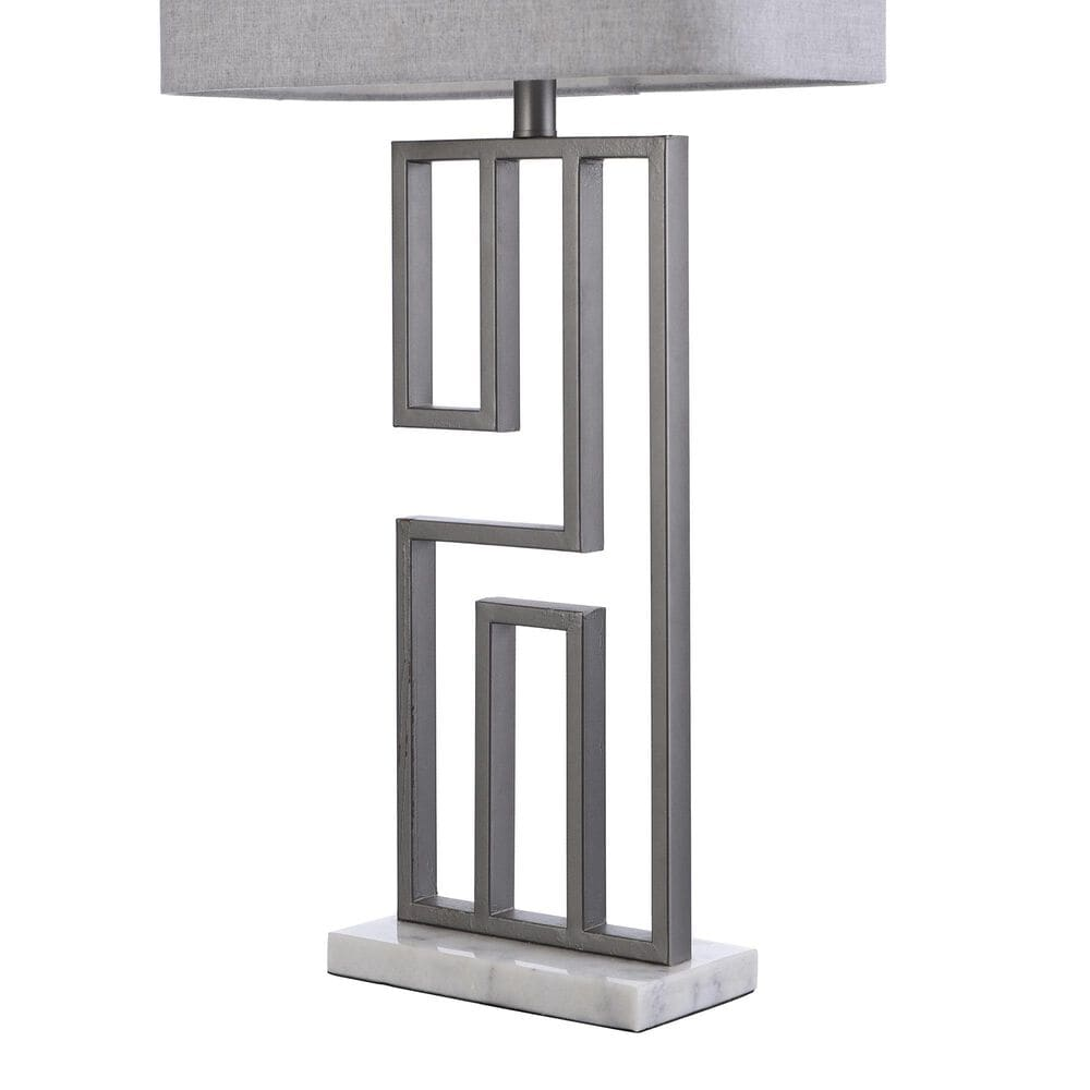 Flair Industries Metal Table Lamp with Marble Base in Volare, , large