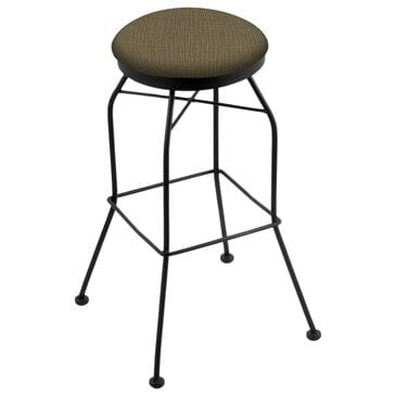 "Holland Bar Stool 3020 25"" Swivel Counter Stool with Black Wrinkle and Graph Cork Seat, , large"