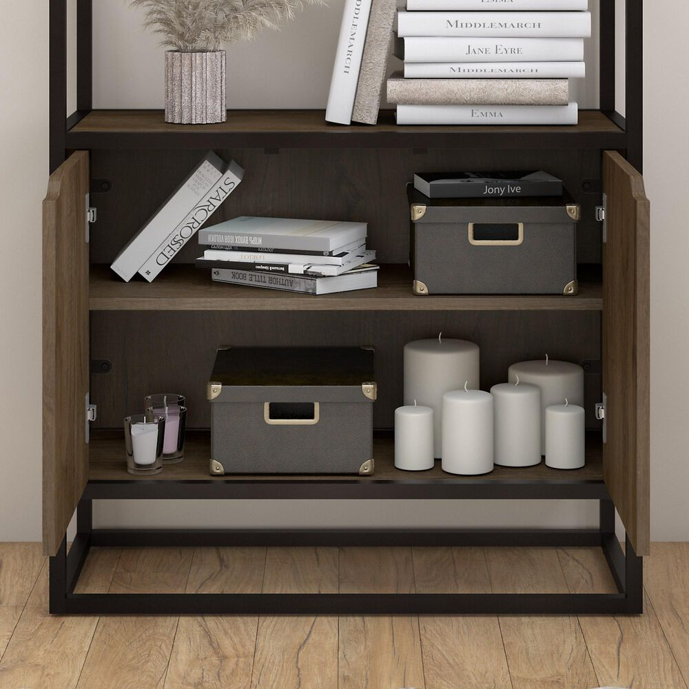 Bush Anthropology 5 Shelf Bookcase in Rustic Brown, , large