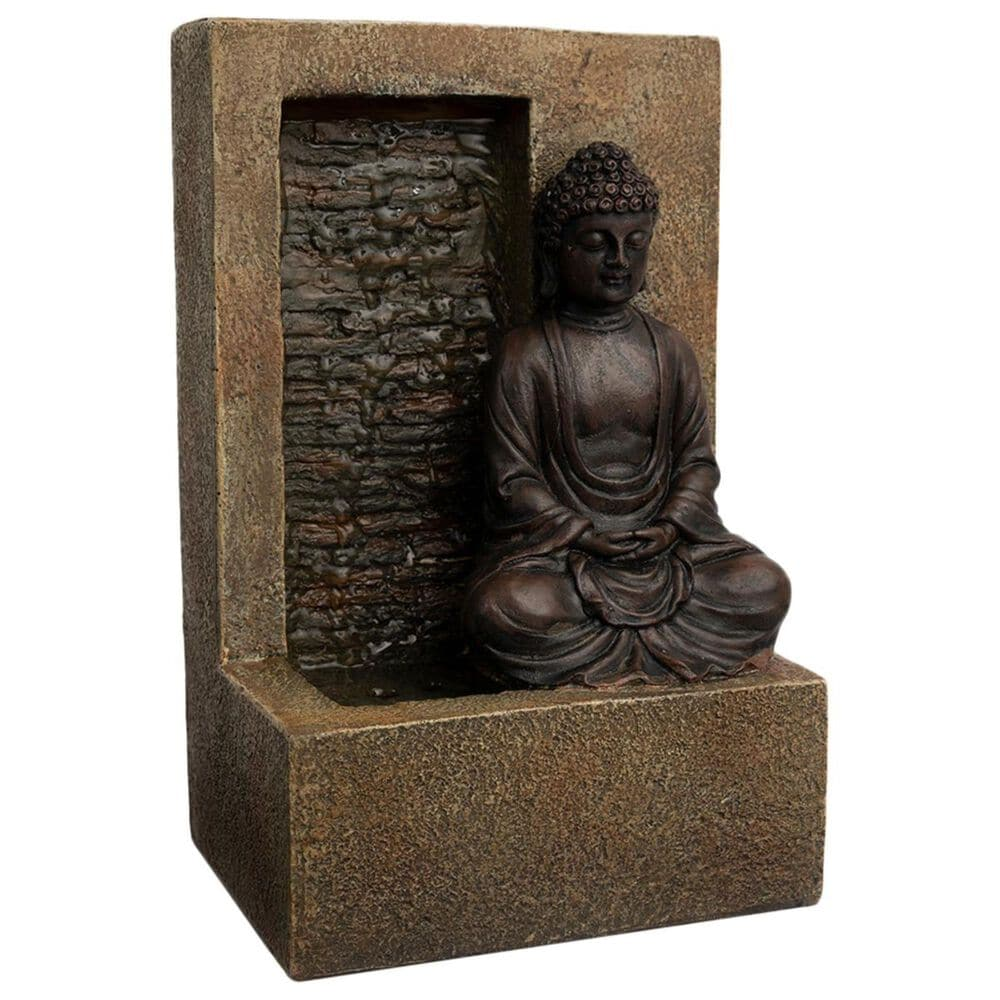 Timberlake Pure Garden Sitting Buddha Statue Fountain in Natural Sand, , large