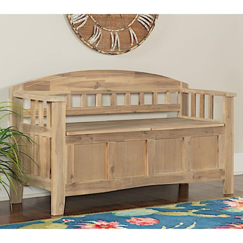 Linden Boulevard Hobson Storage Bench in Acacia, , large