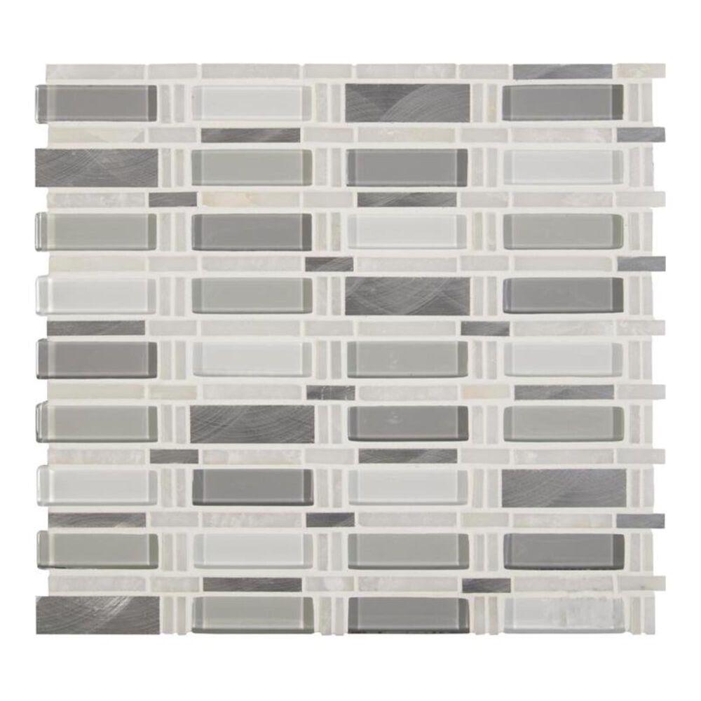 "MS International Icelandic Blend 12"" x 12"" Glass and Stone Mix Mosaic Sheet, , large"