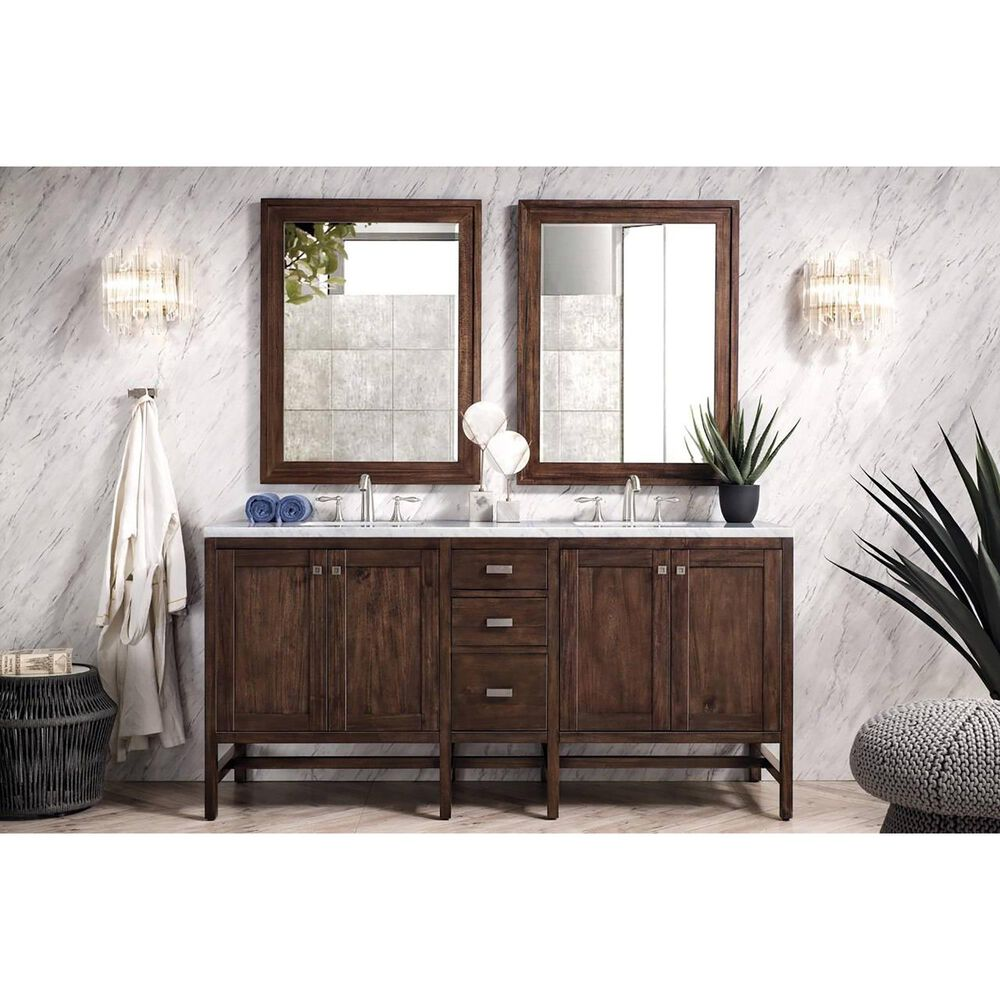 """James Martin Addison 72"""" Double Bathroom Vanity Base Only in Mid Century Acacia, , large"""