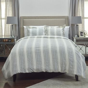 """Rizzy Home Charlton 98"""" x 98"""" Duvet in Gray, , large"""