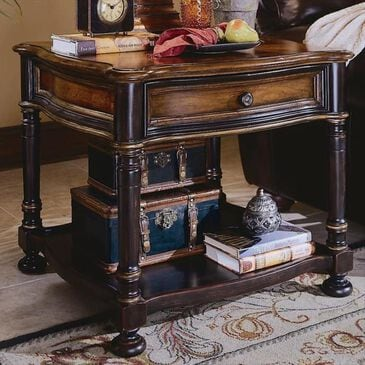 Nineteen37 Preston Ridge Lamp Table in Black and Cherry, , large