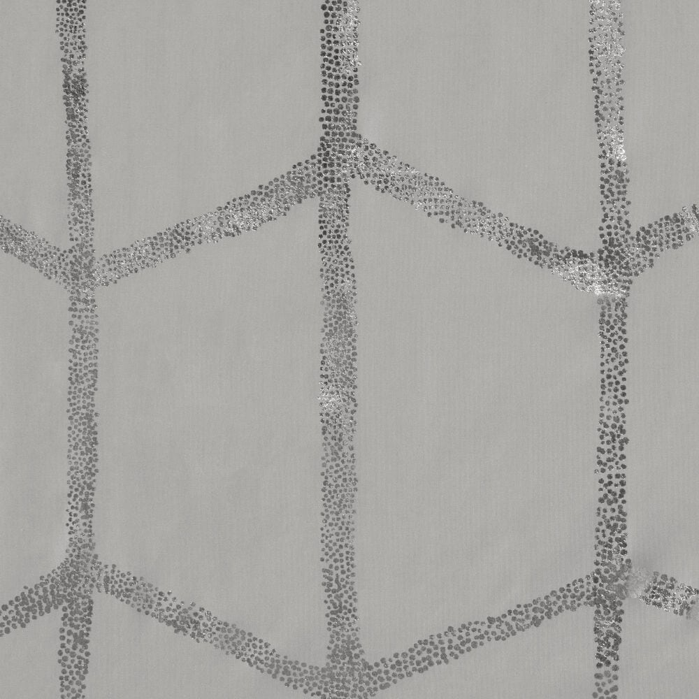 """Hampton Park Raina 72"""" Shower Curtain in Grey and Silver, , large"""
