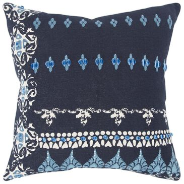 """Rizzy Home Donny Osmond 20"""" x 20"""" Down Pillow in Dark Blue, , large"""