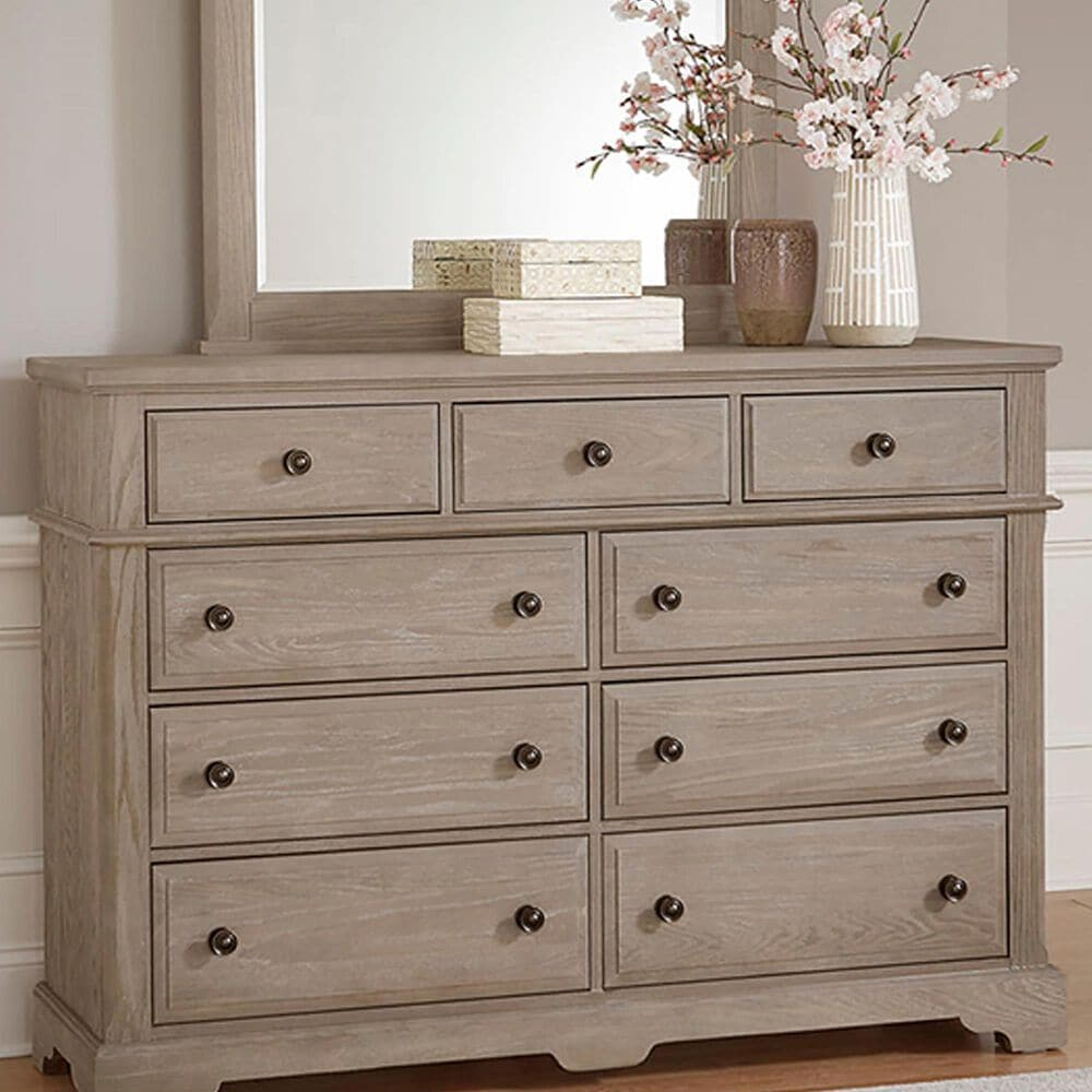 Viceray Collections Heritage Mansion 9 Drawer Dresser in Greystone, , large