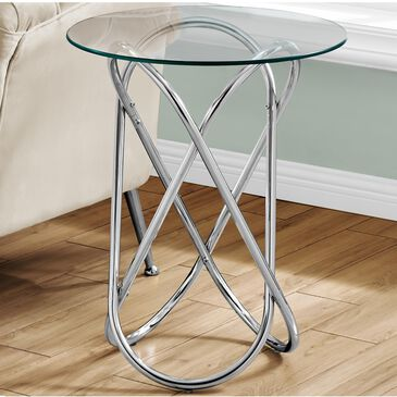 Monarch Specialties Accent Table in Chrome, , large