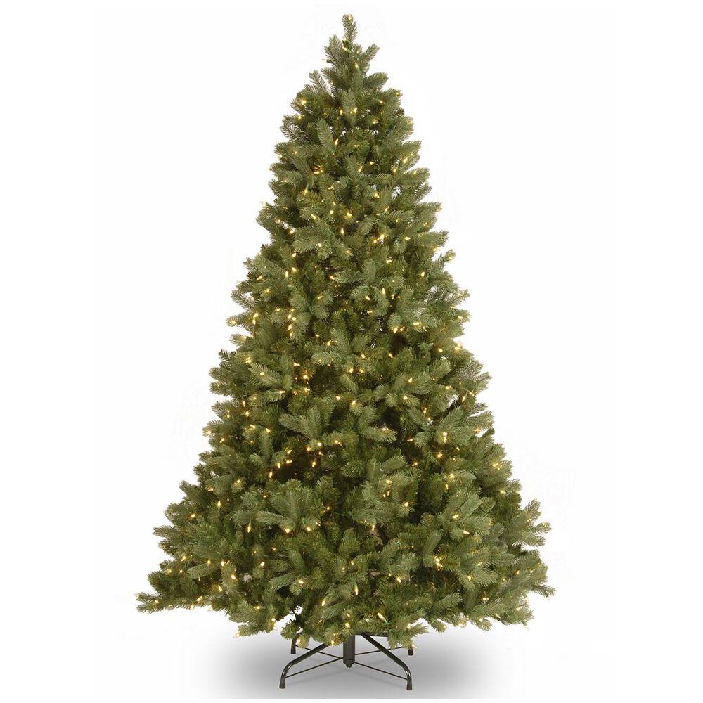 "National Tree 7.5"" Feel Real Downswept Douglas Fir Hinged Tree with 750 Dual LED Lights, , large"