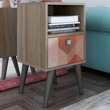 Dayton Abisko 1-Drawer Side Table in Oak and Stamp, , large