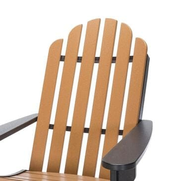 The Hammock Source Essentials Adirondack Chair in Black and Cedar, , large