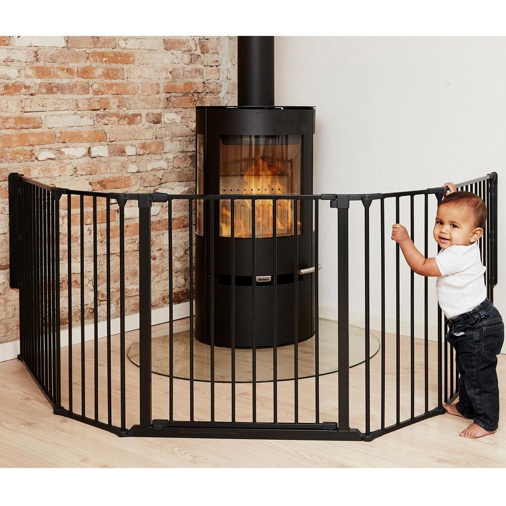 """LA Baby BabyDan FLEX 35.4"""" - 109.5"""" XL Room Divider in Black, , large"""