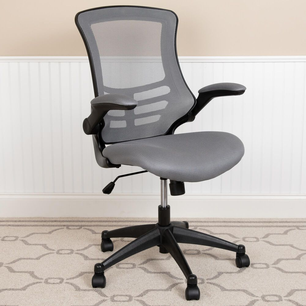Flash Furniture Swivel Office Chair in Gray, , large
