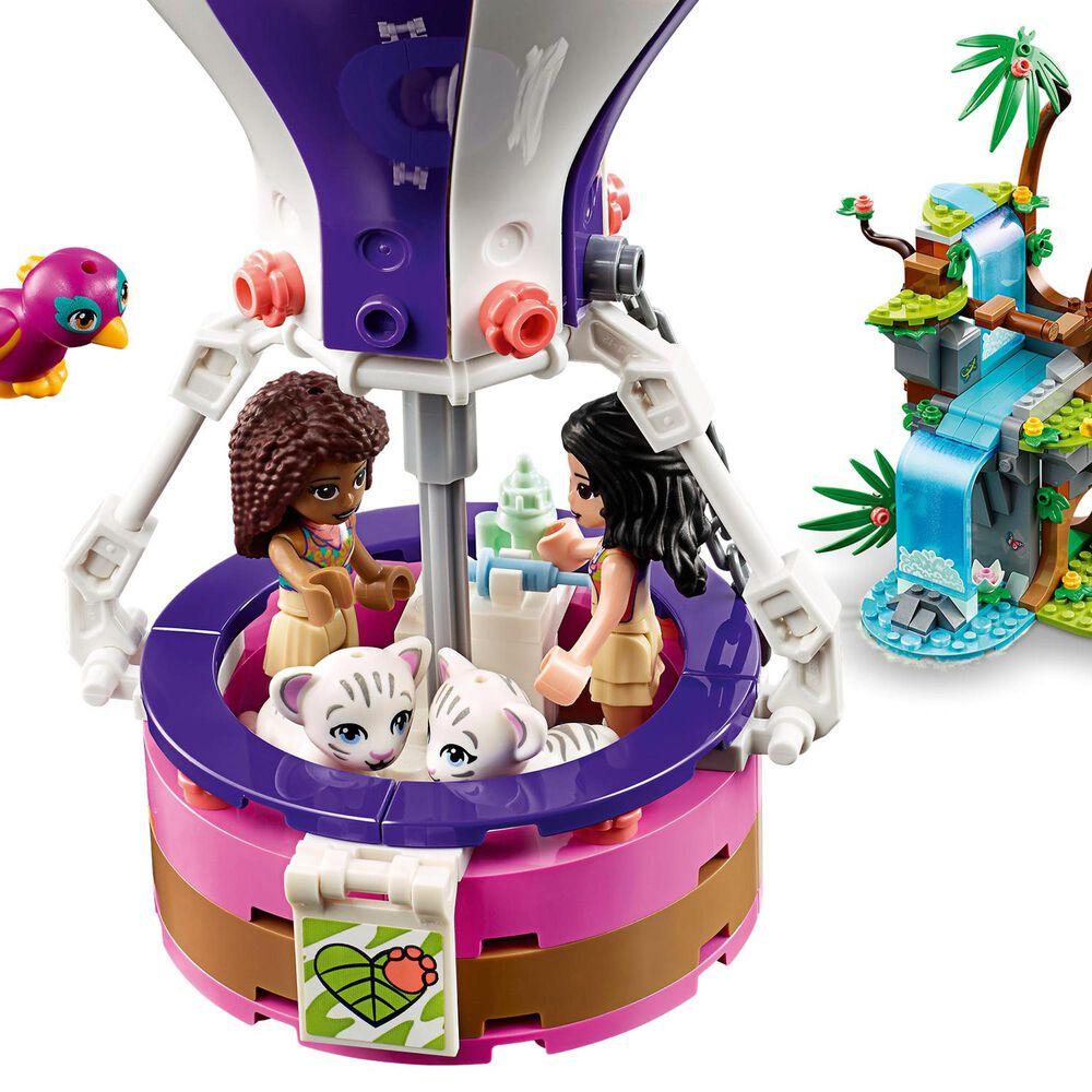 LEGO Friends Tiger Hot Air Balloon Jungle Rescue Building Set, , large