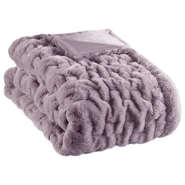 """Hampton Park Ruched Fur 50"""" x 60""""  Throw in Lavender, , large"""