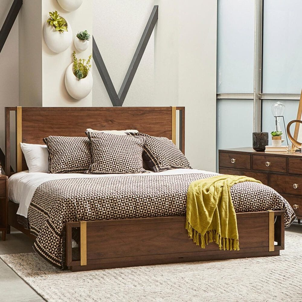 Accentric Approach Urban Eclectic Benton King Bed in Brown, , large