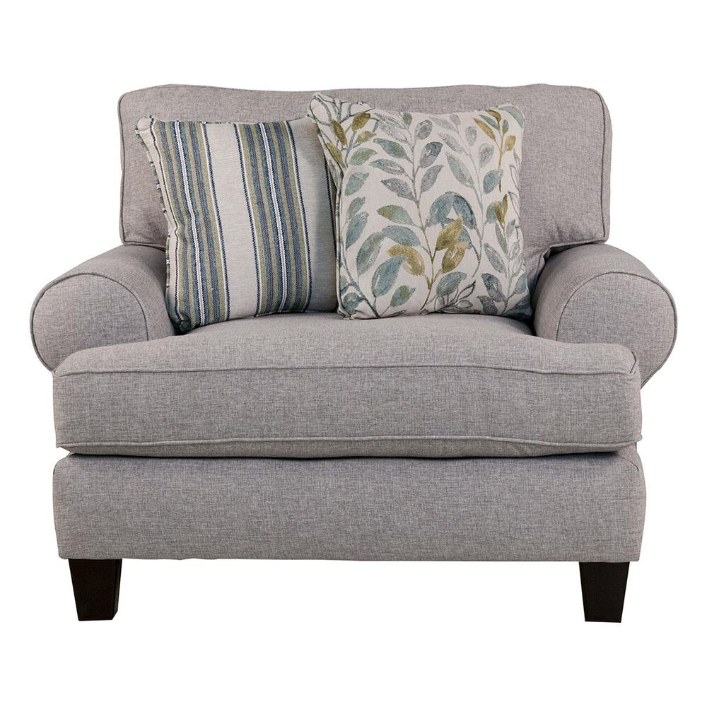 Xenia Chair and a Half in Thrillist Fog, , large