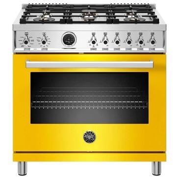 "Bertazzoni Professional Series 36"" Pro Style Duel Fuel Range in Yellow, , large"