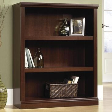 Sauder 3 Shelf Bookcase in Select Cherry, , large