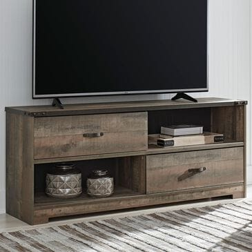 Signature Design by Ashley Trinell Large TV Stand in Brown, , large
