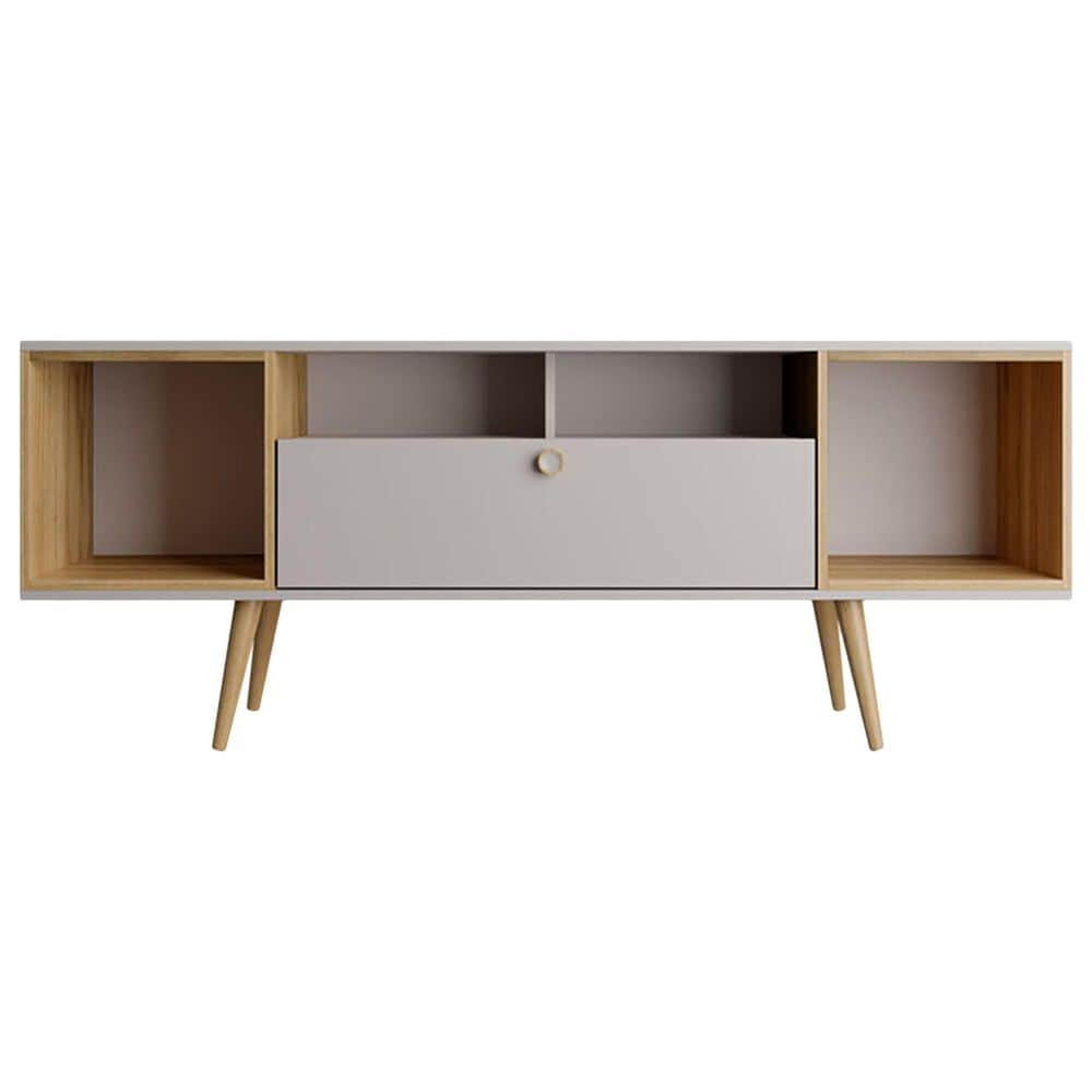"""Dayton Theodore 62.99"""" TV Stand in Off White/Cinnamon, , large"""