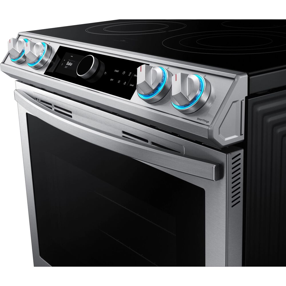 Samsung 6.3 Cu. Ft. Front Control Slide-in Electric Range with Smart Dial, Air Fry and Wi-Fi in Stainless Steel, , large