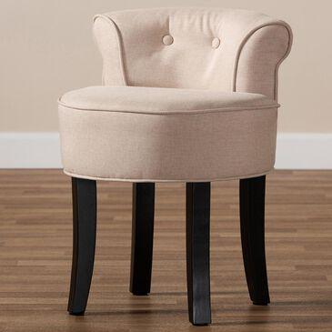 Baxton Studio Cerise Accent Chair in Beige, , large