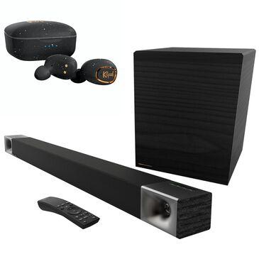 Klipsch Cinema 600W Soundbars and T2 True Wireless Earphones in Black, , large