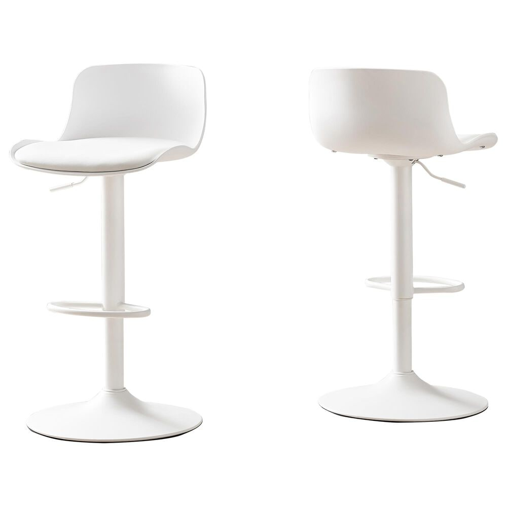 Monarch Specialties Barstool in White (Set of 2), , large