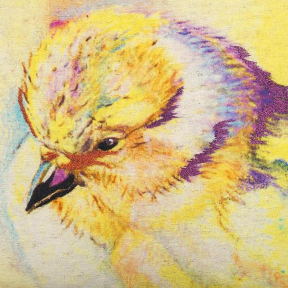 """Rizzy Home Mariah Parris 20"""" x 20"""" Pillow Cover with Yellow Chick, , large"""