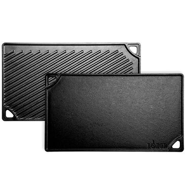 Lodge Cast Iron Double Play Cast Iron Reversible Grill and Griddle , , large