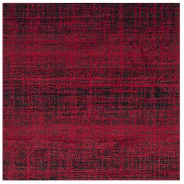 Safavieh Adirondack ADR116F 4' Square Red and Black Area Rug, , large