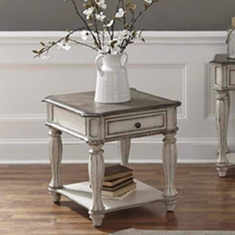 Belle Furnishings Magnolia Manor End Table in Antique White, , large