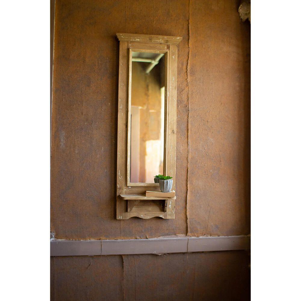 Kalalou Tall Mirror with Shelf, , large