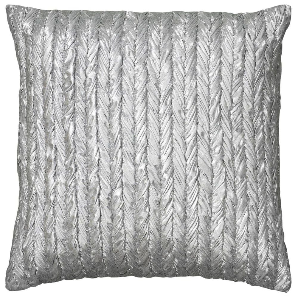 """Rizzy Home 18"""" x 18"""" Pillow Cover in Silverish Gray, , large"""