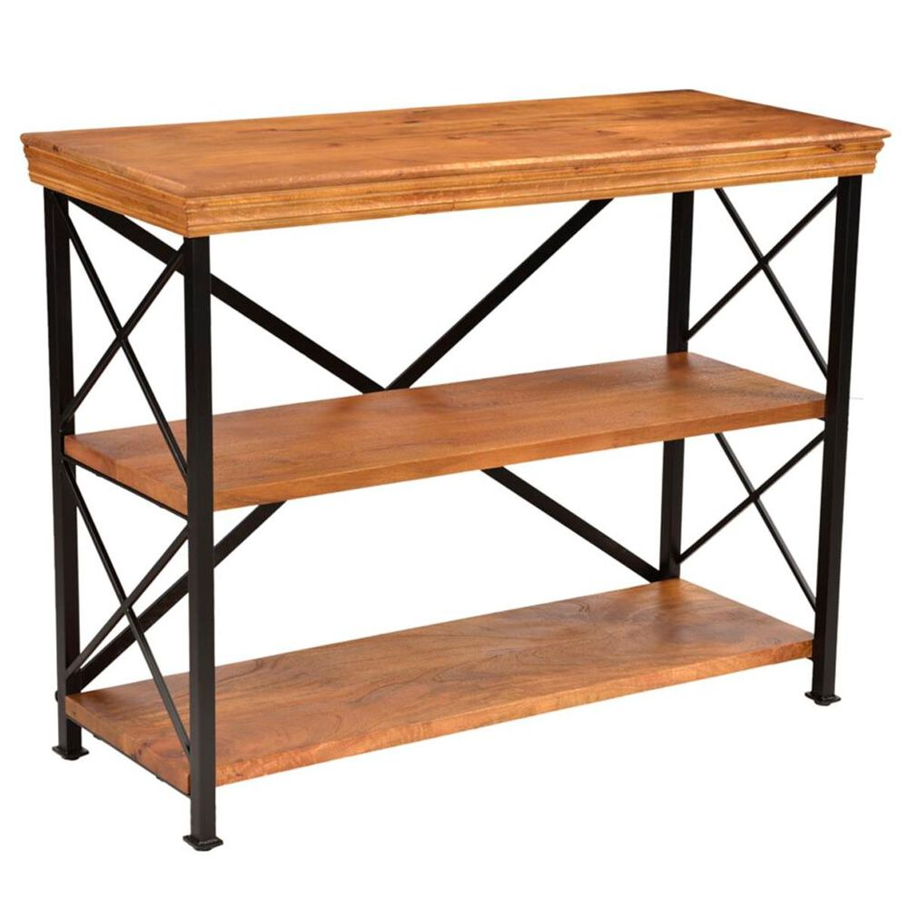37B Wood and Metal Low Shelf in Java, , large