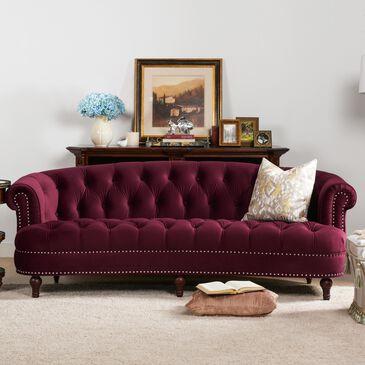 Jennifer Taylor Home La Rosa Victorian Chesterfield Tufted Sofa in Burgundy Velvet, , large
