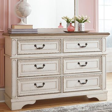 Signature Design by Ashley Realyn Youth Dresser in Chipped White, , large