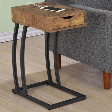 Pacific Landing C Table with Power and USB Port in Antique Nutmeg, , large