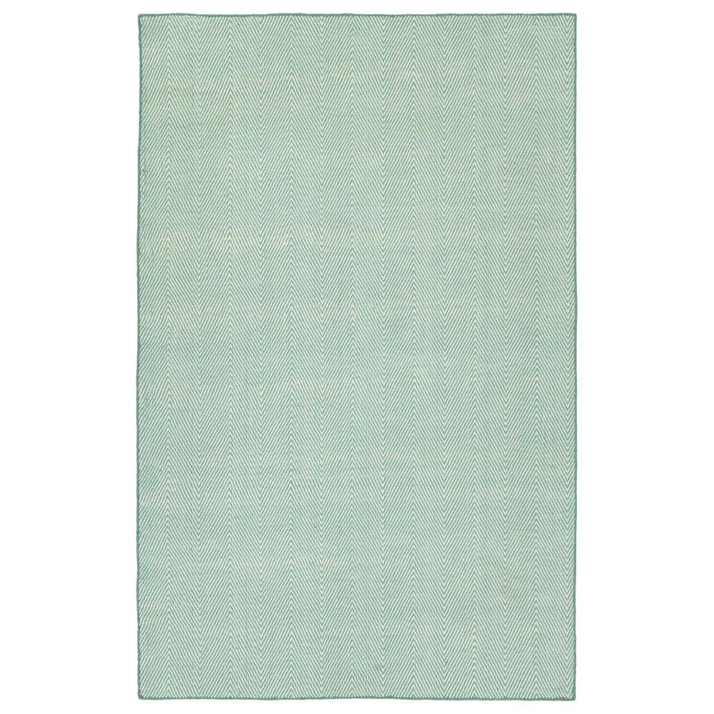 Kaleen Rugs Ziggy ZIG01-79 9' x 12' Light Blue and White Indoor/Outdoor Area Rug, , large