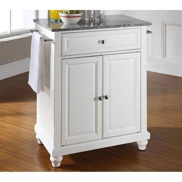 Crosley Furniture Cambridge Solid Granite Top Portable Kitchen Island in White, , large