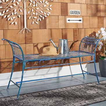 Safavieh Hadley Patio Bench in Antique Blue, , large