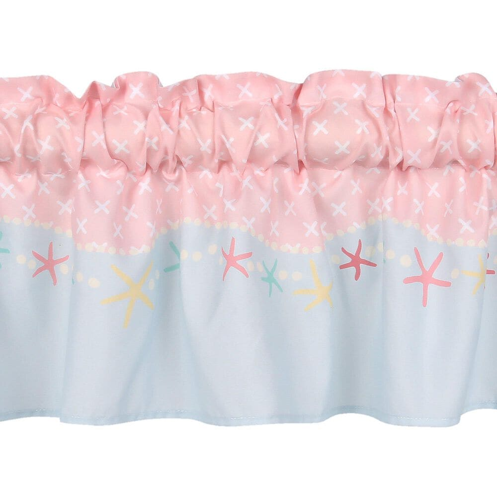 Lambs and Ivy Ocean Mist Window Valance, , large
