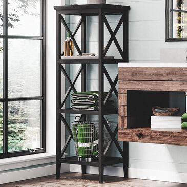RiverRidge Home X-Frame 4-Shelf Storage Tower in Espresso, , large